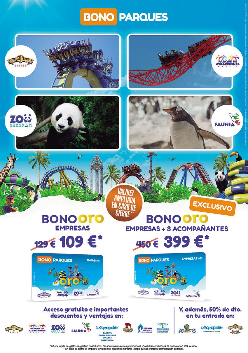 Bono parques oro empresas 2021