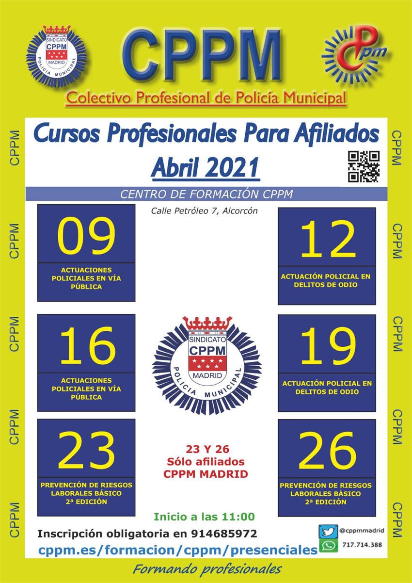 Cursos presenciales CPPM abril 2021