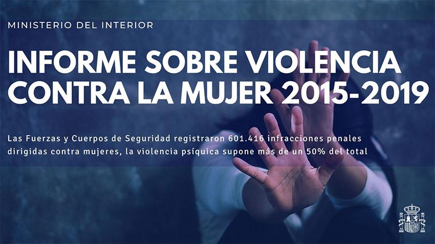 Informe sobre violencia contra la mujer 2015-2019 Ministerio Interior