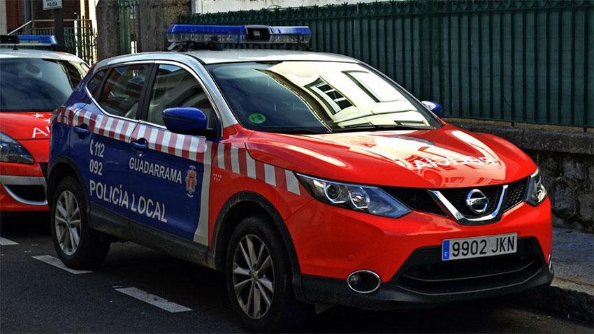 Policía local Guadarrama coche