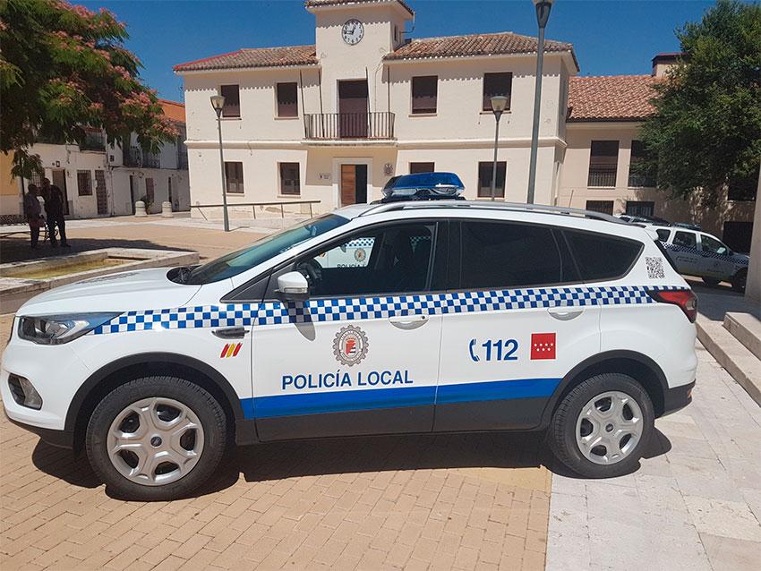 Policia local Vilallbilla coche