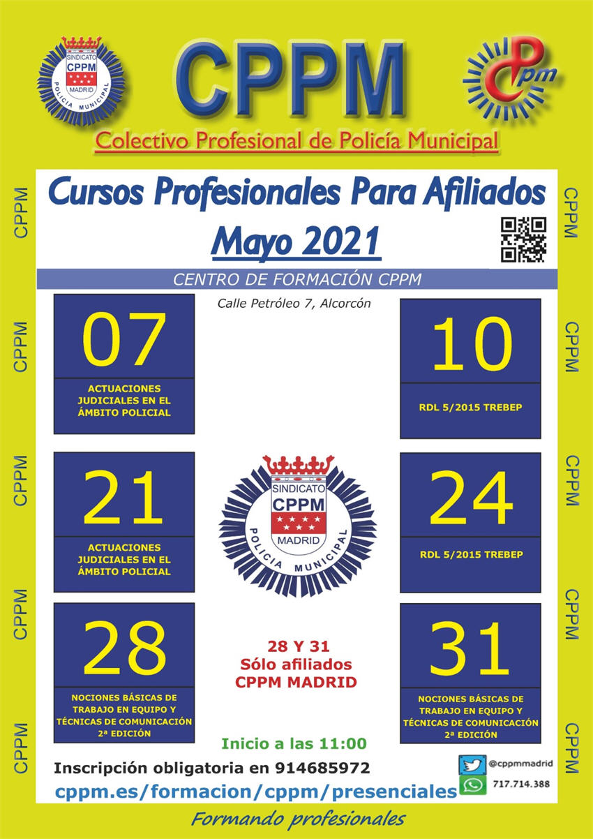 Cursos presenciales mayo 2021 CPPM