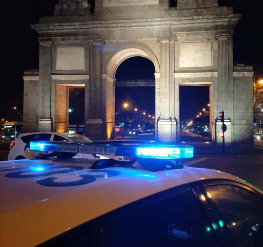 Coche policía Madrid