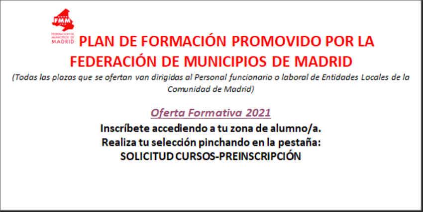 Plan Formación FMM entidades locales 2021