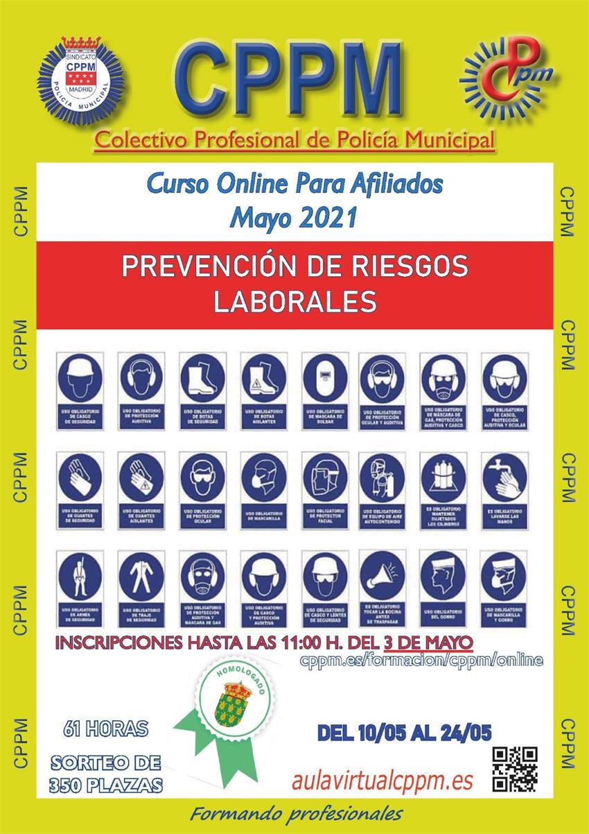 Curso online prevención de riesgos laborales Sindicato CPPM modalidad online