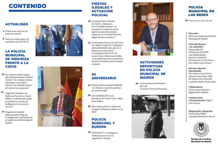 Revista Policía Municipal Madrid abril 2021
