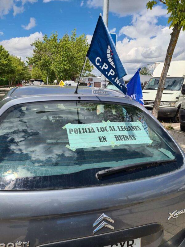 Caravana de seguridad 1 mayo 2021 CPPM Leganés