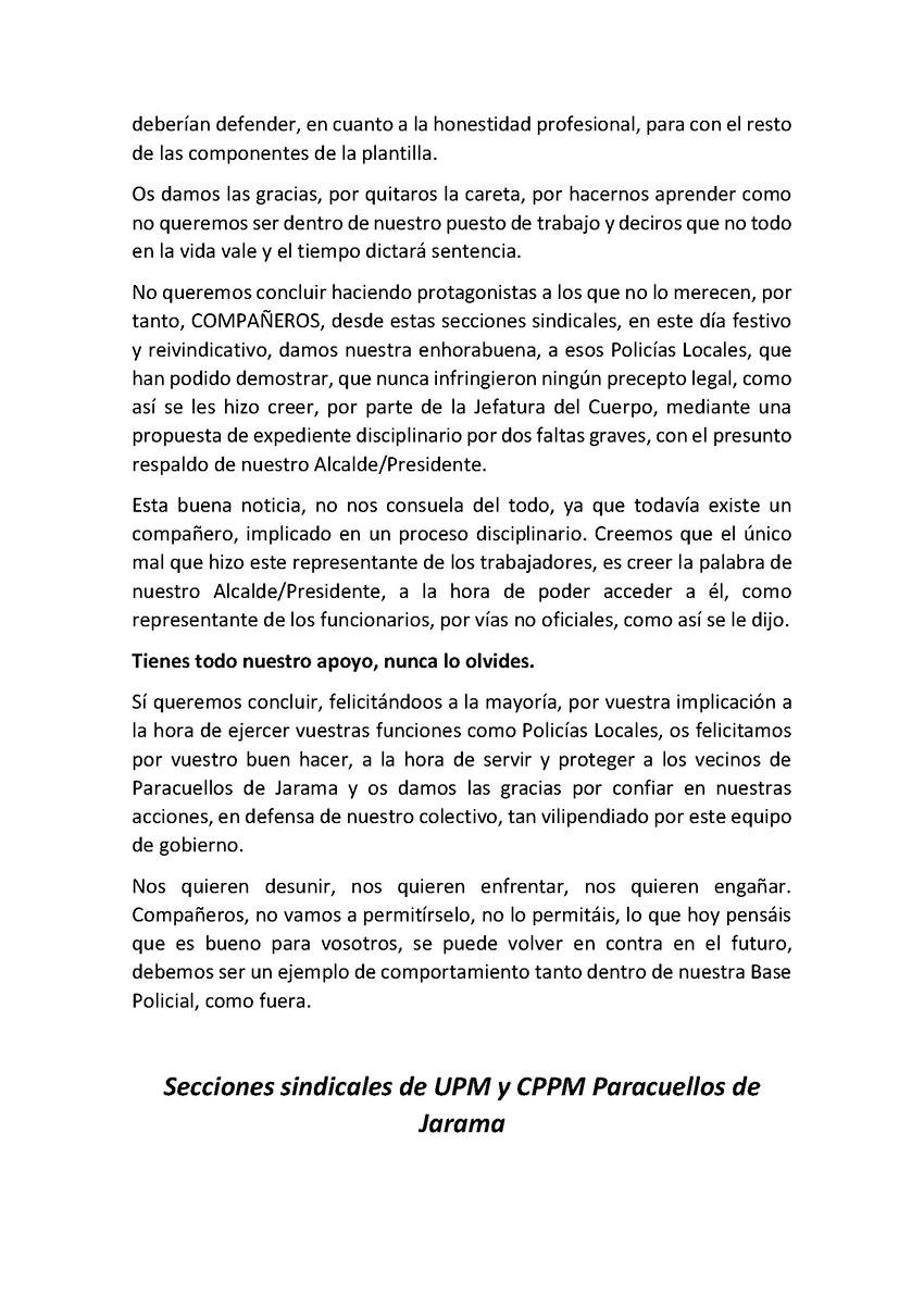 Nota prensa día trabajador CPPM UPM Paracuellos Jarama