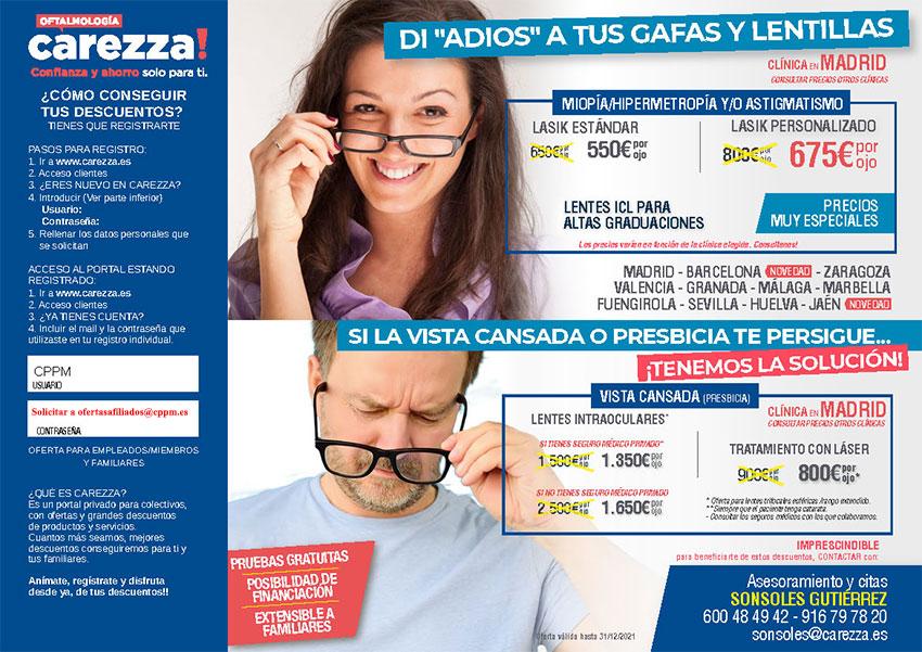Oferta carezza oftalmología CPPM