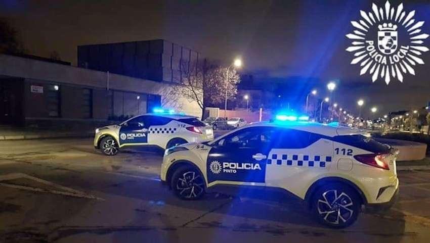 Policía local pinto coche