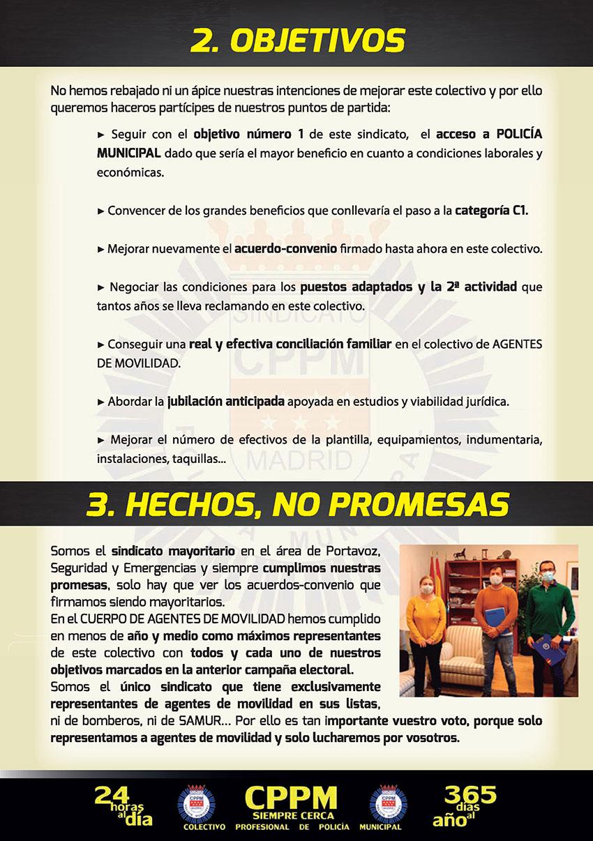 Programa elecciones sindicales 27 mayo 2021 Agente Movilidad sindicato CPPM Madrid