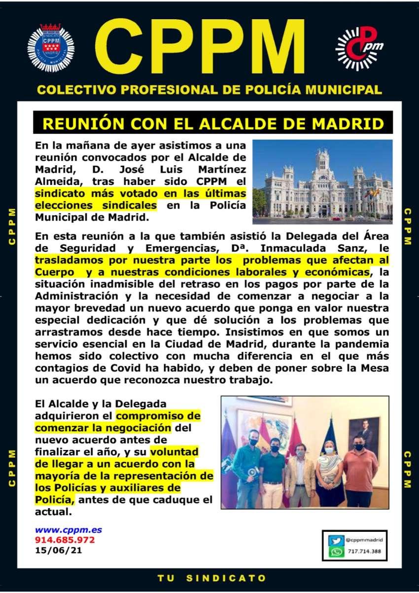 Reunión Alcalde Madrid CPPM Madrid
