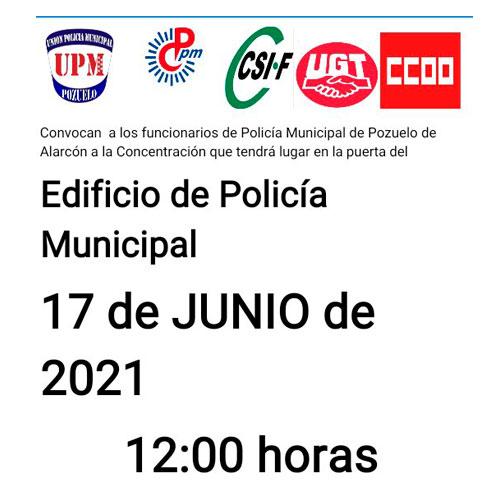 Concentración Policías Municipales Pozuelo Alarcón