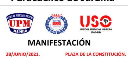Manifestación 28 junio 2021 Paracuellos de Jarama UPM CPPM USO