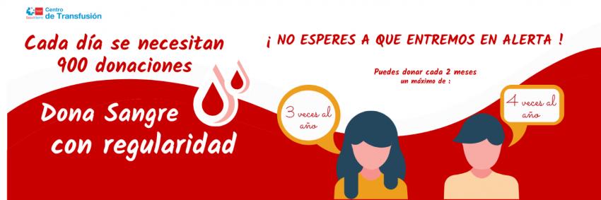 Dona sangre con regularidad Comunidad MAdrid
