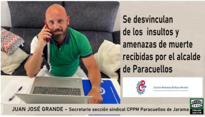 Entrevista a Secretario General CPPM Paracuellos JArama tras amenazas alcalde