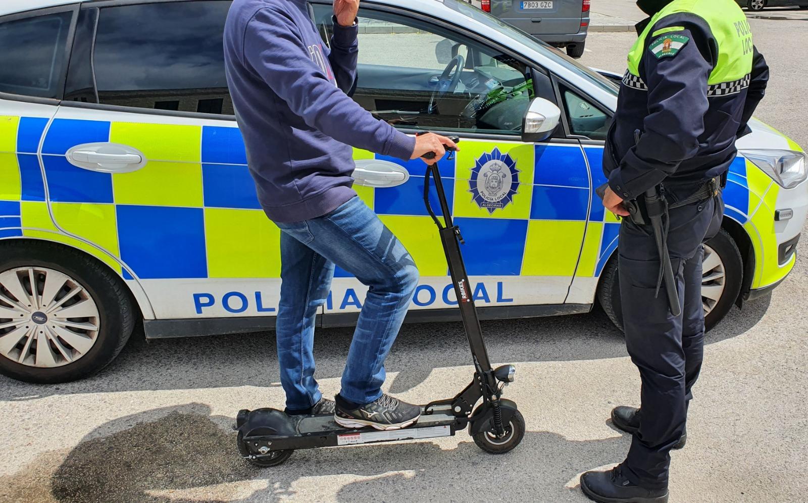 Intervención policial con vehículos de movilidad personal cppm