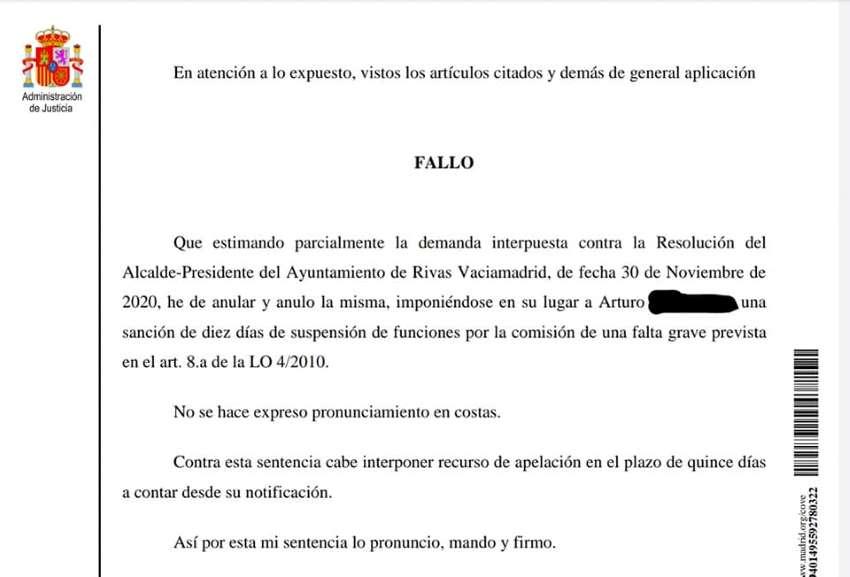 Comunicado CPPM Rivas Sentencia Arturo