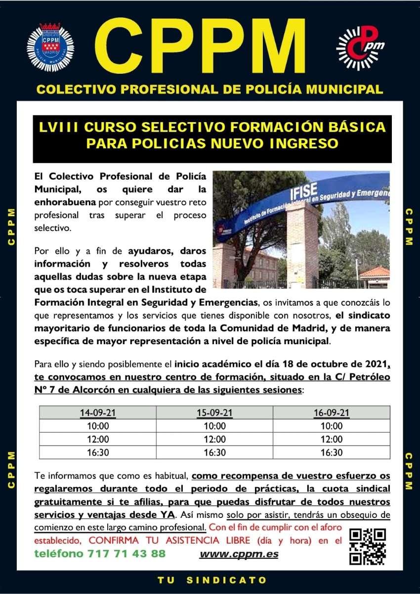 Charlas promoción 53 policia municipal madrid CPPM MAdrid