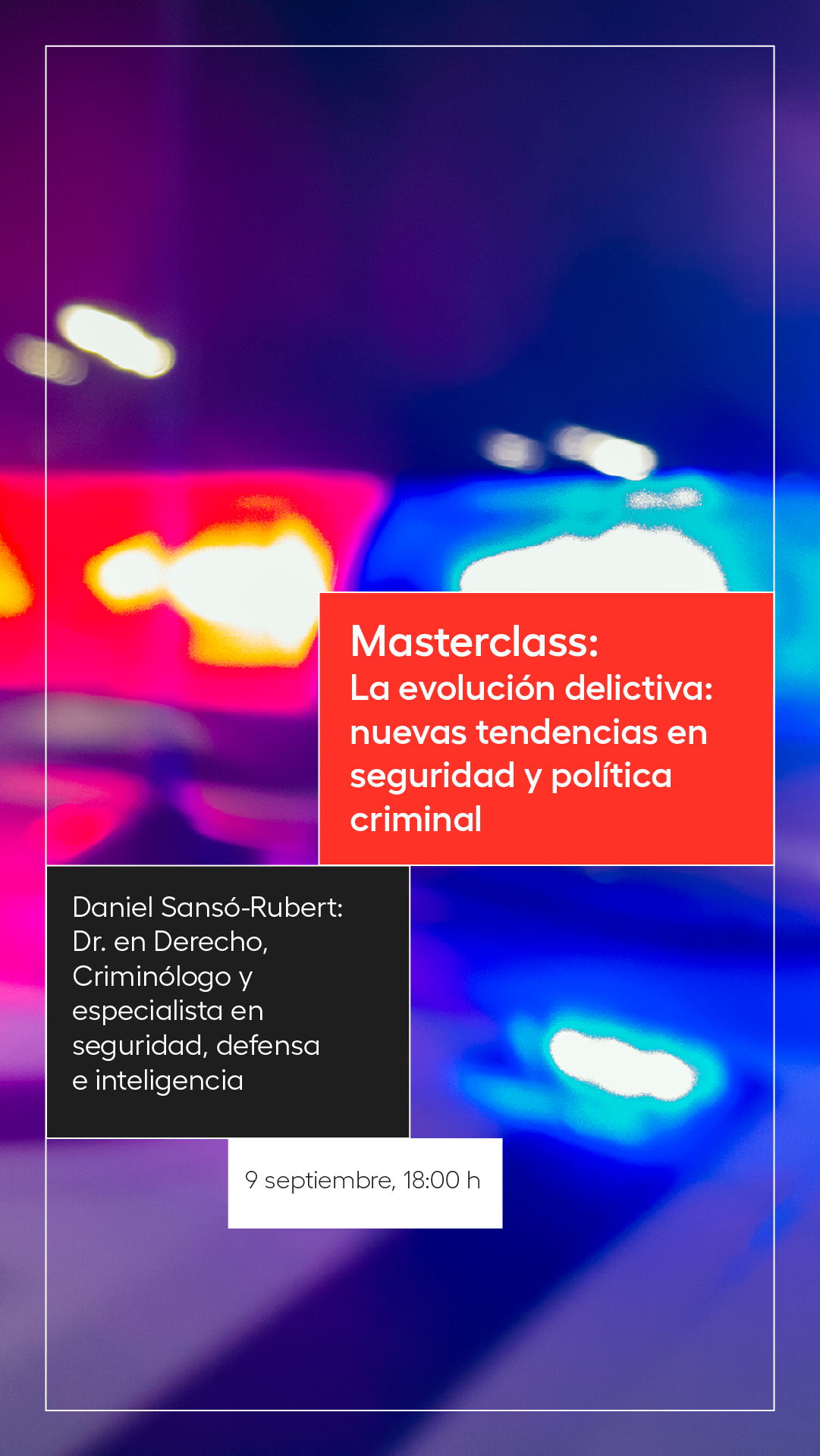 Masterclass grado criminología Universidad Europea CPPM