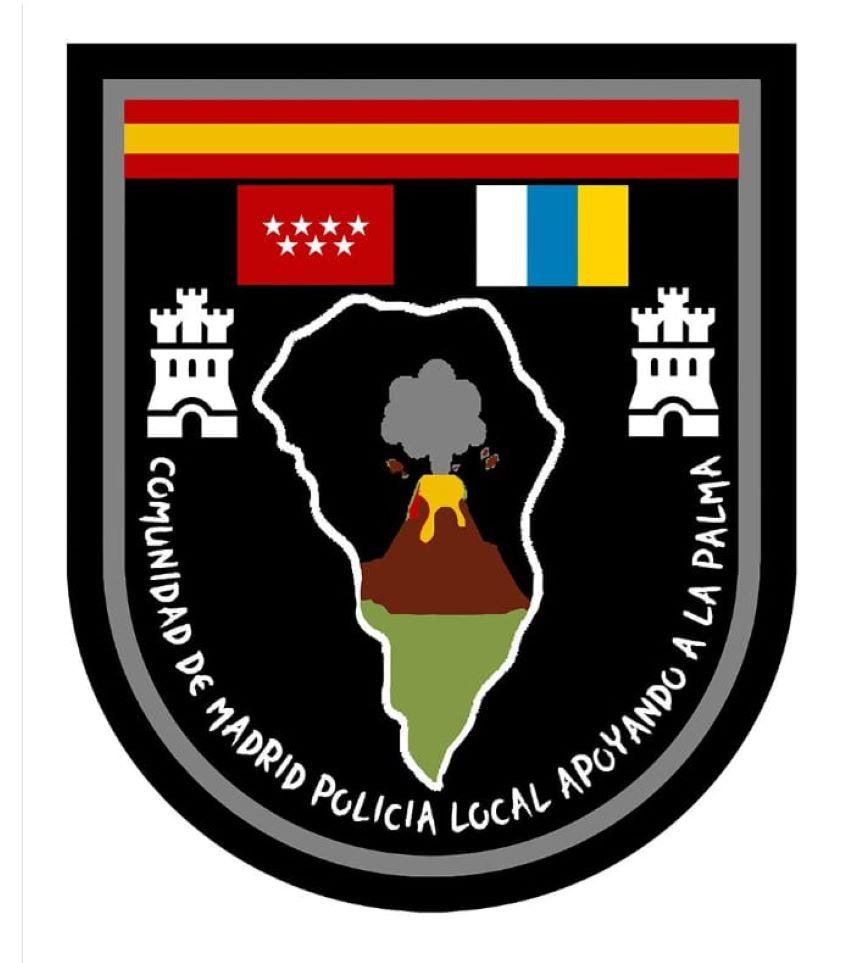 Parche solidario policias locales comunidad madrid volcan la palma